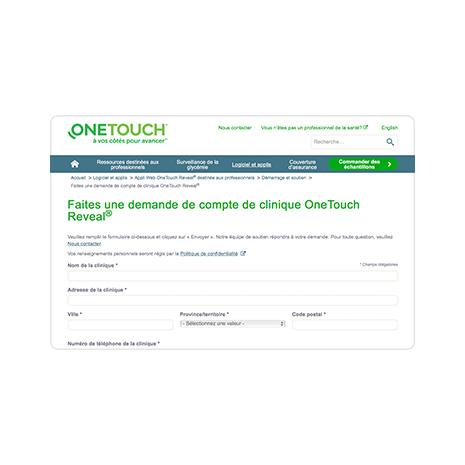 Demander un compte clinique OneTouch Reveal®